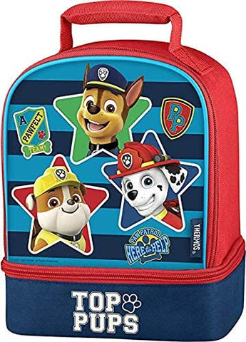 Nickelodeon Paw Patrol Top Pups Dual Compartment Lunch Box