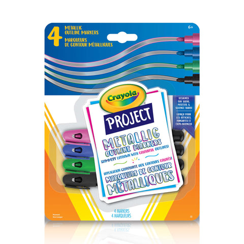 Crayola Project Metallic Outline Markers 4 Pack