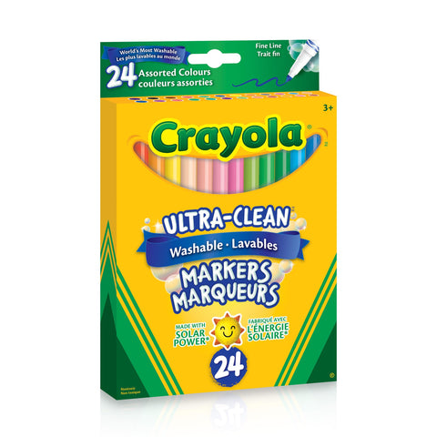 Crayola Ultra-Clean Washable Fine Line Markers 24 Pack