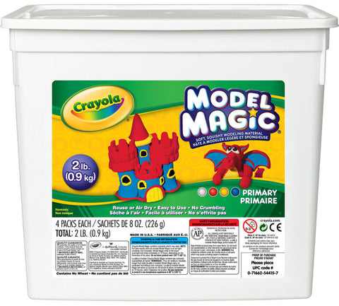 Crayola Model Magic 2lb Resealable Storage Container - Primary Colours