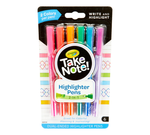 Crayola Take Note Dual Tip Highlighter Pens 6 Pack