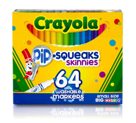 Crayola Pip-Squeaks Skinnies Washable Markers 64 Pack