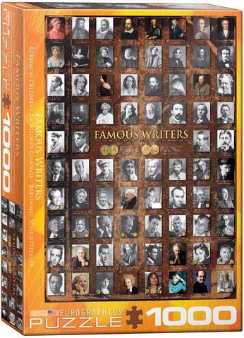 Eurographics Famous Writers Jigsaw Puzzle 1000pc