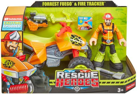 Rescue Heroes Forrest Fuego & Fire Tracker