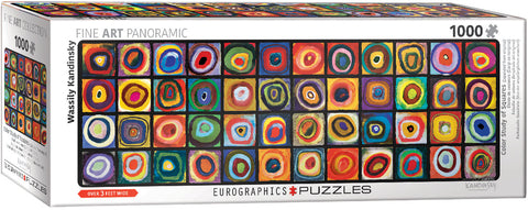 Eurographics Colour Study of Squares Panoramic 1000 Piece Puzzle