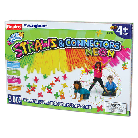 Neon Straws & Connectors 300 Pieces