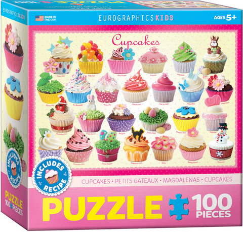 Eurographics Cupcakes 100 Piece Puzzle