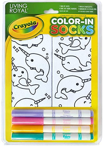 Living Royal Crayola Kid's Colour-in Socks Assorted Styles