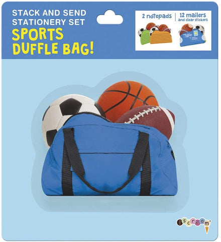 Sports Duffle Bag Stack & Send Stationery