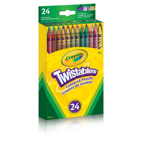 Twistables Coloured Pencils 24 Pack