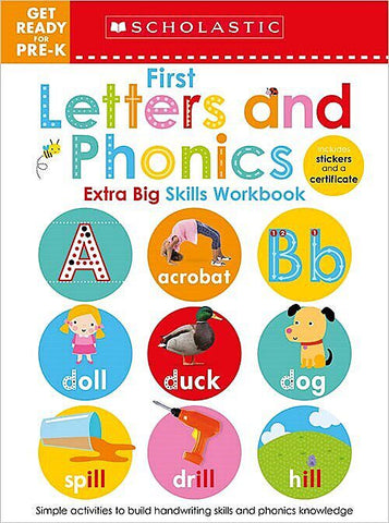 Get Ready for Pre-K Extra Big Skills Workbook: First Letters and Phonics