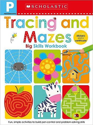 Pre-K Big Skills Workbook: Tracing and Mazes