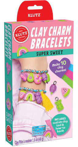 Clay Charm Bracelets: Super Sweet