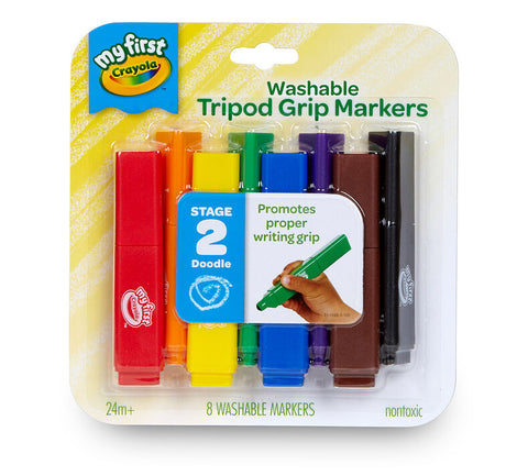 My First Crayola Washable Tripod Grip Markers 8 Pack