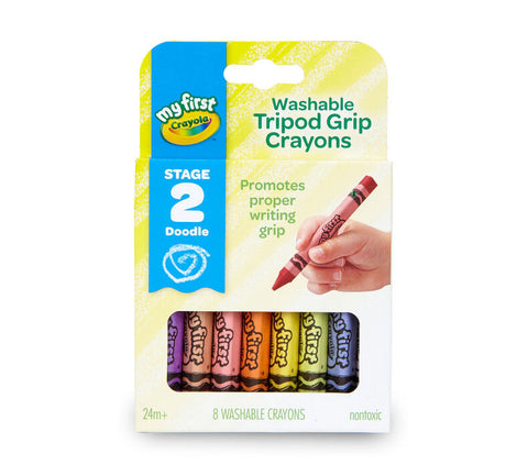 My First Crayola Washable Tripod Grip Crayons 8 Pack