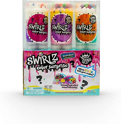 Swirlz Ice Cream Push Pop 3 Pack Scented Slime