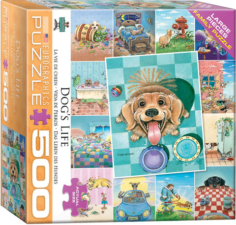 Eurographics Dog's Life 500 Piece Puzzle