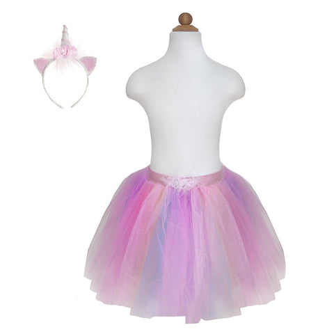 Unicorn Tutu & Headband Set Pink