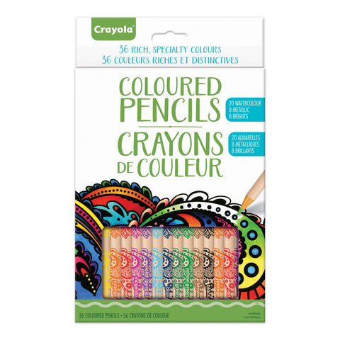 Crayola Rich Specialty Coloured Pencils 36 Pack