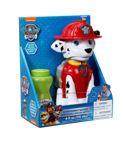 Paw Patrol Action Marshall Bubble Blower