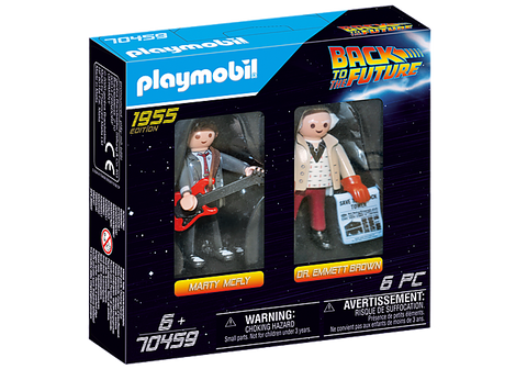 Playmobil Back to the Future Marty Mcfly and Dr. Emmet Brown