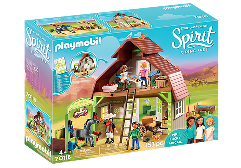 Playmobil Barn with Lucky, Pru and Abigail