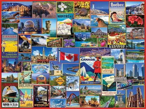 White Mountain Best Places in Canada Jigsaw Puzzle 1000pc