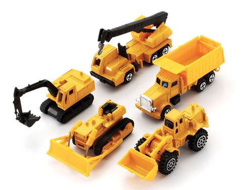 Die-Cast Construction Vehicles 5 Pack