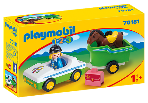Playmobil Car with Horse Trailer
