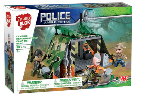 Dragon Blok: Police Jungle Patrol - Camping Headquarters