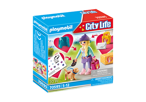 Playmobil City Life Fashionista with Dog