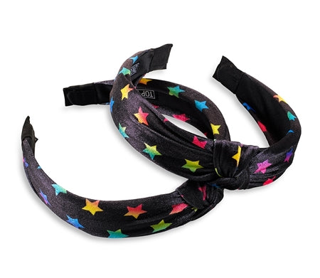 Top Trenz Multi Star V2 Black Knot Headband