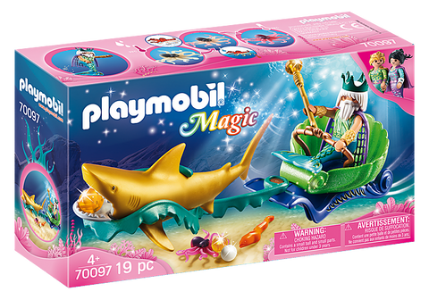 Playmobil King of the Sea with Shark Carriage