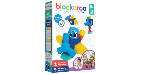 Blockaroo Magnetic Foam Blocks - Plane
