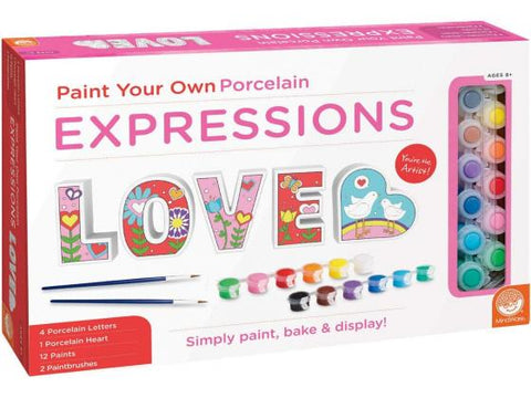 Paint Your Own Porcelain Expression Love