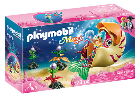Playmobil Mermaid with Sea Snail Gondola