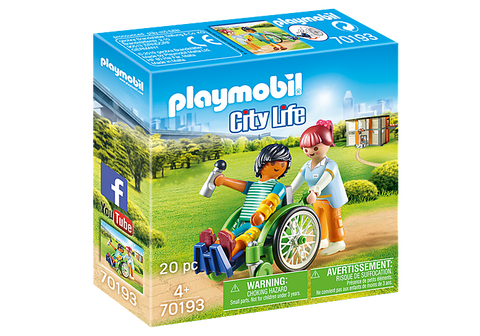 Playmobil Patient in Wheelchair