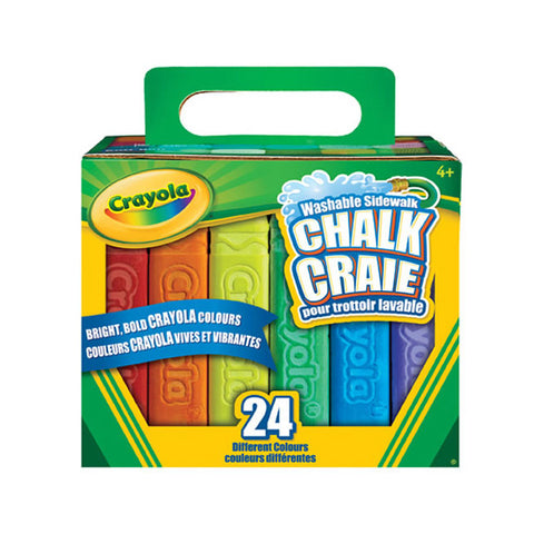 Crayola Washable Sidewalk Chalk 24 Pack