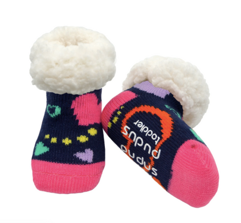 Pudus Classic Slipper Socks Toddler (Ages 1-3) - Valentines Styles