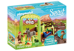 Playmobil Snips and Señor Carrots with Horse Stall
