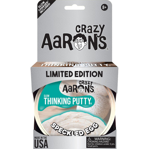 Crazy Aaron's Speckled Egg Glow Thinking Putty