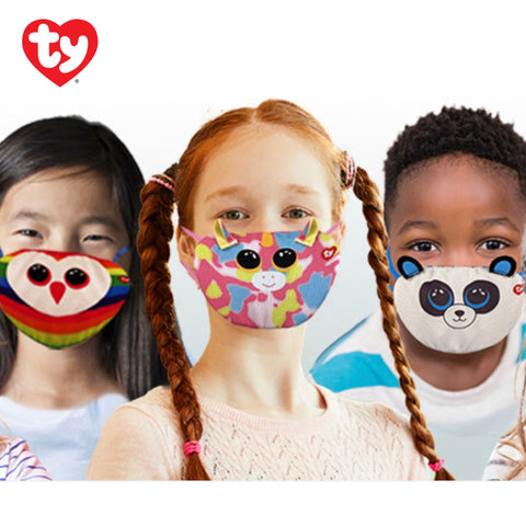 Ty Beanie Boo Kids Face Masks Assorted Styles