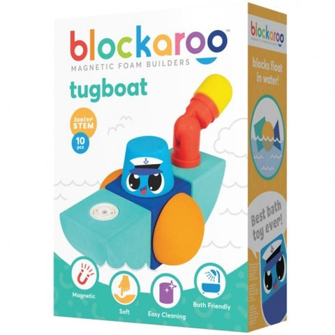 Blockaroo Magnetic Foam Blocks - Tug Boat