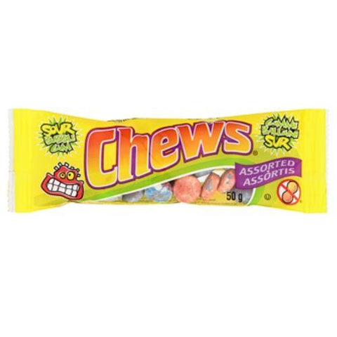 Chews Sour Bubble Gum
