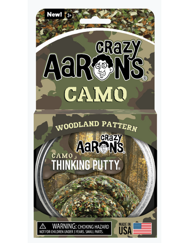 Crazy Aaron's Trendsetters Woodland Camo Thinking Putty