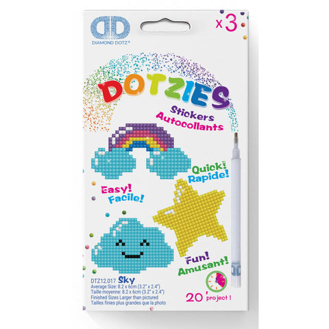 Diamond Dotz Dotzies Stickers Sky