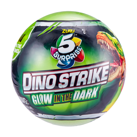5 Surprise Dino Strike Series 2 Glow In The Dark