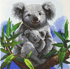 Cuddly Koalas Crystal Art Kit