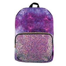 Fashion Angels Crushed Velvet and Chunky Glitter Backpack