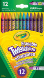 Crayola Erasable Twistables Coloued Pencils 12 Pack